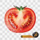 تصویر png گوجه فرنگی نصف شده