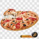تصویر png پیتزا با کیفیت