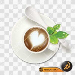 فایل psd فنجان کافه