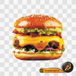 عکس png همبرگر و چیزبرگر
