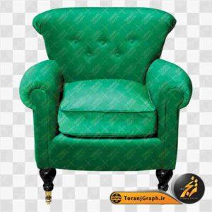 تصویر png مبل راحتی سبز