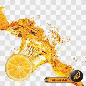 عکس png قطره آب پرتقال