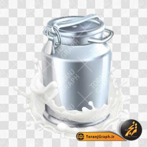 تصویر png سطل شیر