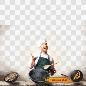 تصویر سرآشپز و آشپزخانه