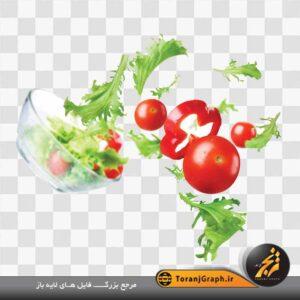 <span>تصویر کاهو و گوجه</span>