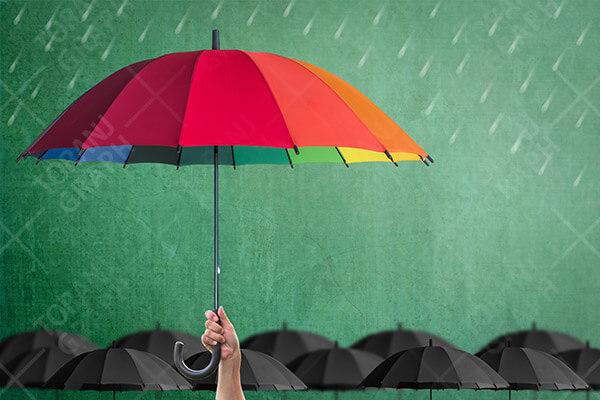 عکس چتر رنگی با کیفیت بالا