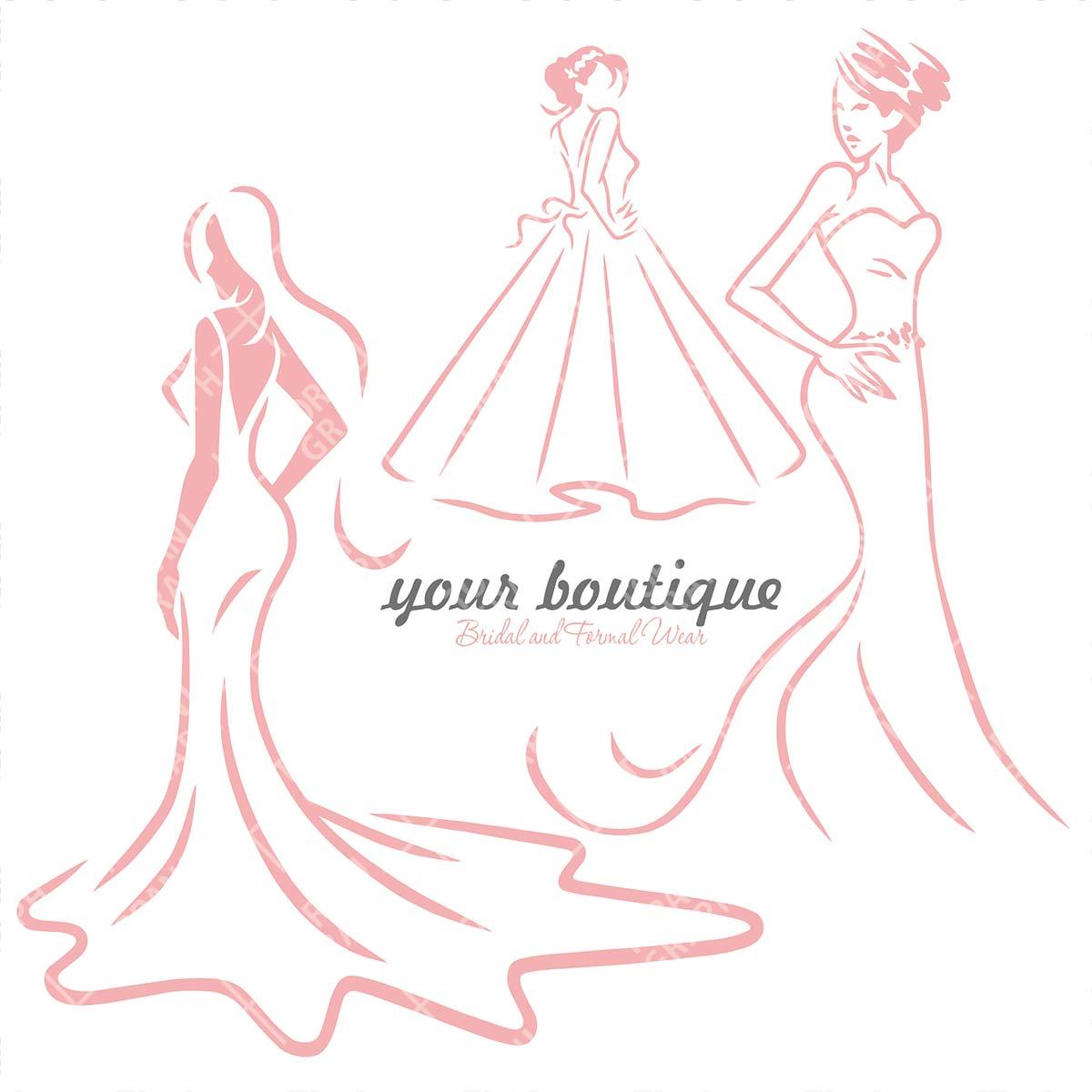 انواع وکتور لباس عروس لایه باز