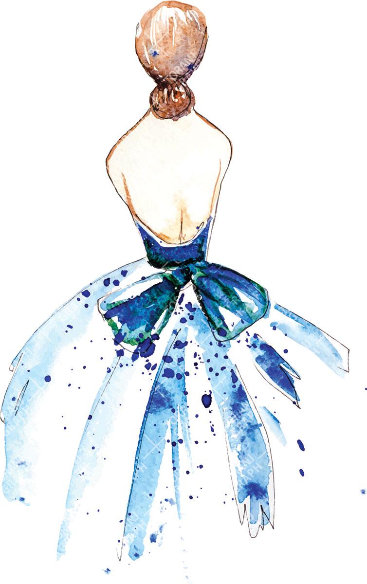 نمونه وکتور لایه باز لباس عروس