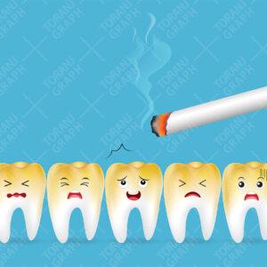 "<span itemprop=""name"">وکتور لایه باز دندان پوسیده و سیگار</span>"