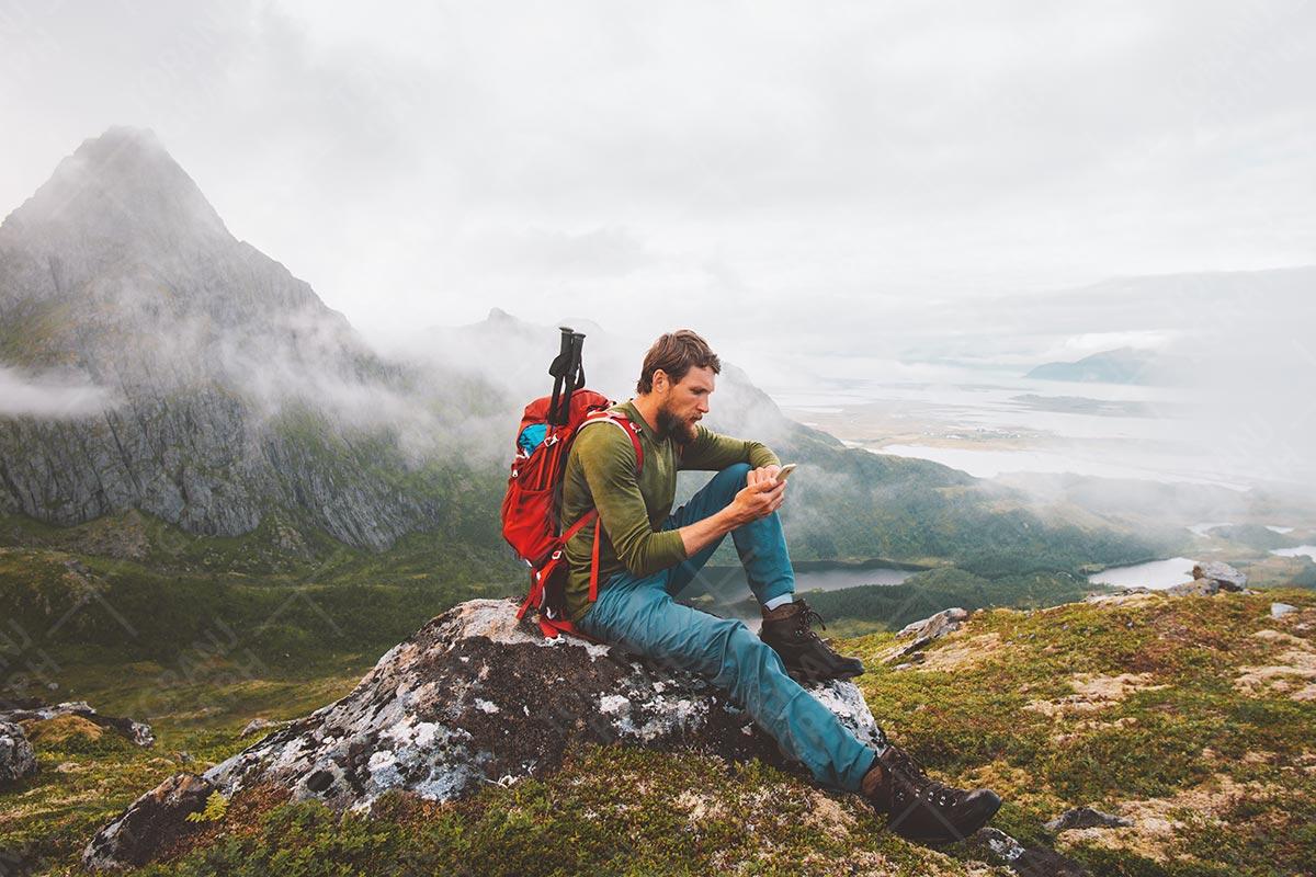 عکس کوهنورد و لوازم کوهنوردی با کیفیت بالا
